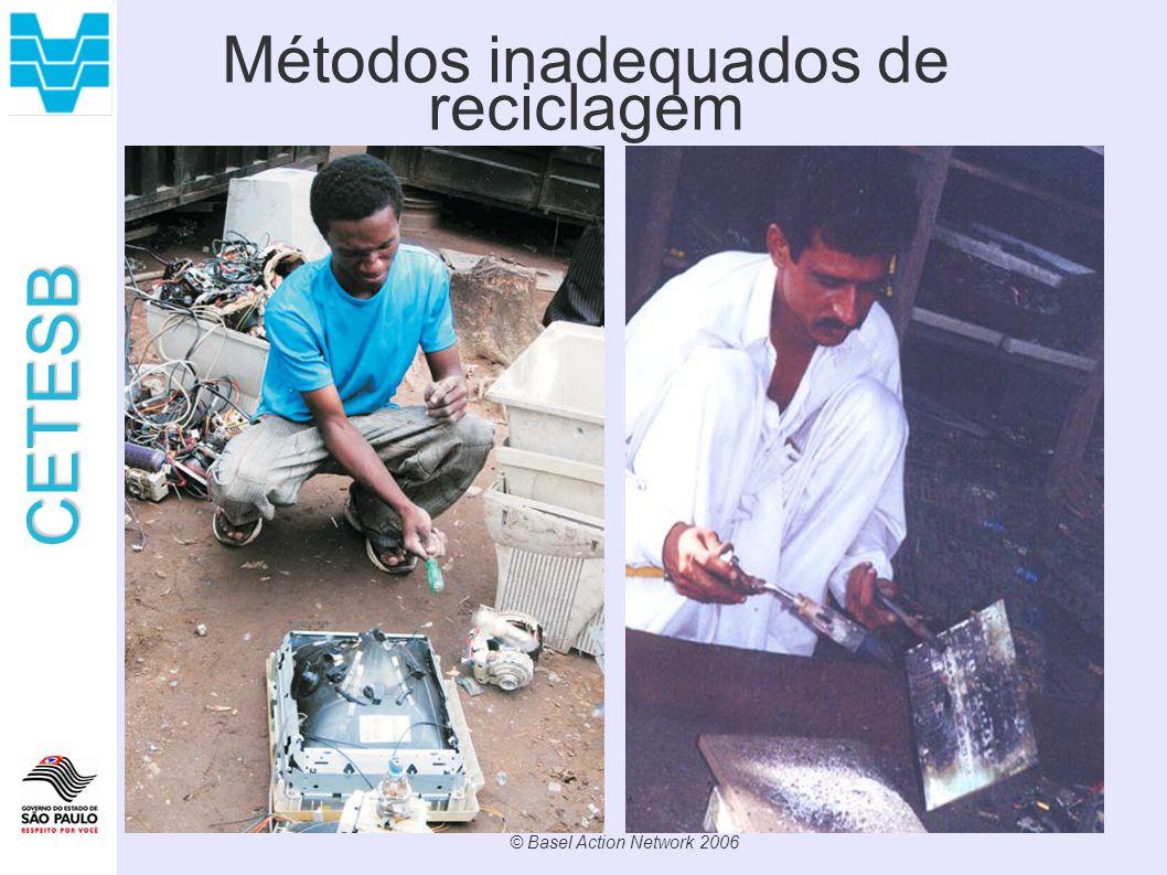 CETESB Métodos inadequados de reciclagem © Basel Action Network 2006