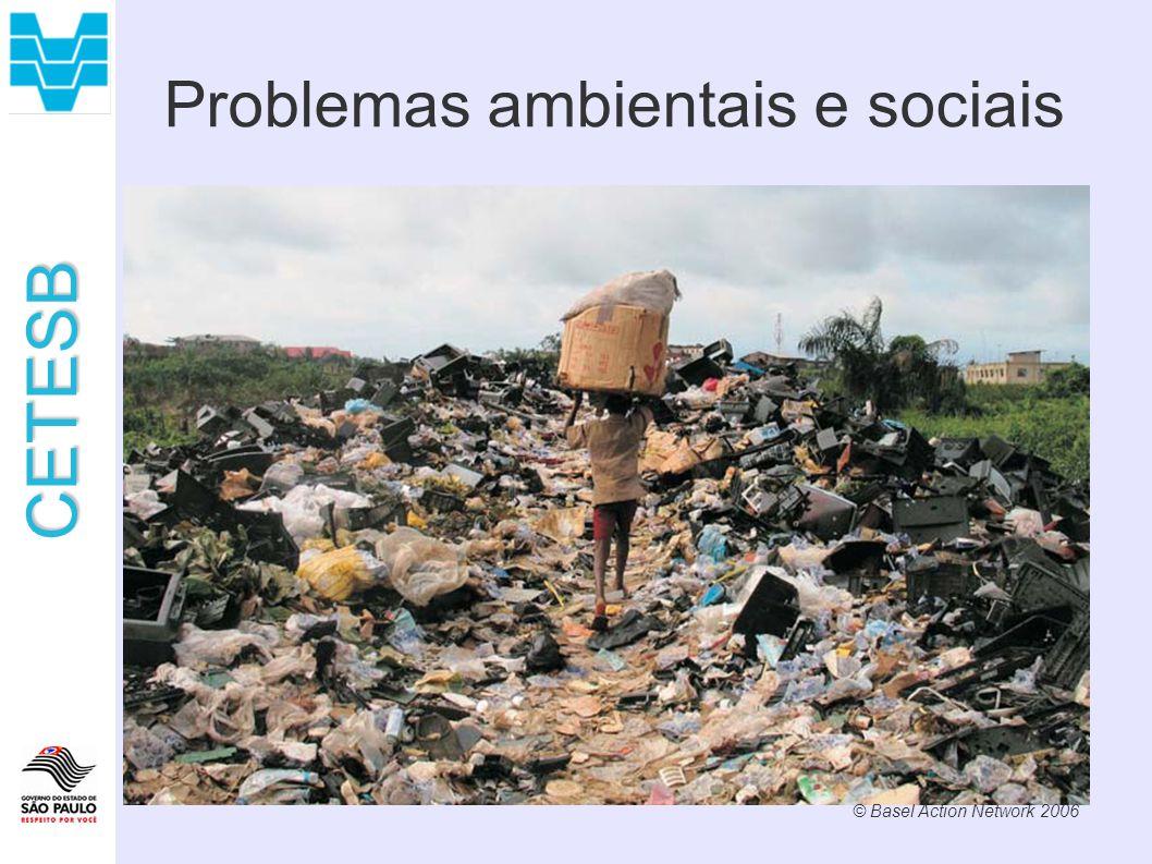 CETESB Problemas ambientais e sociais © Basel Action Network 2006
