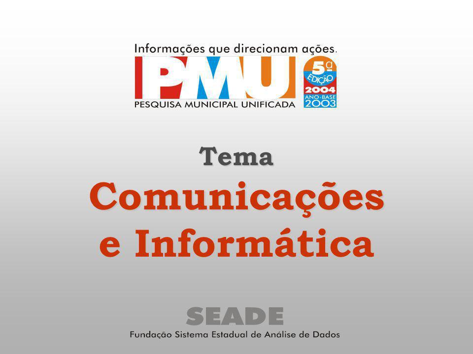 TemaComunicações e Informática