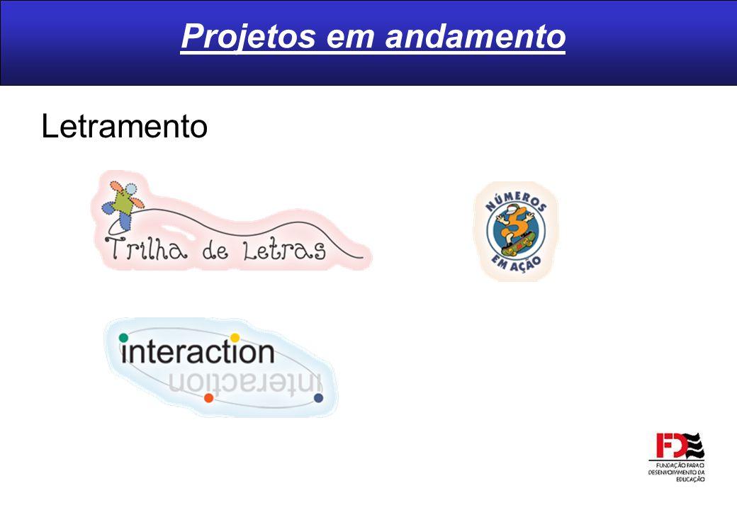 Projetos em andamento Letramento