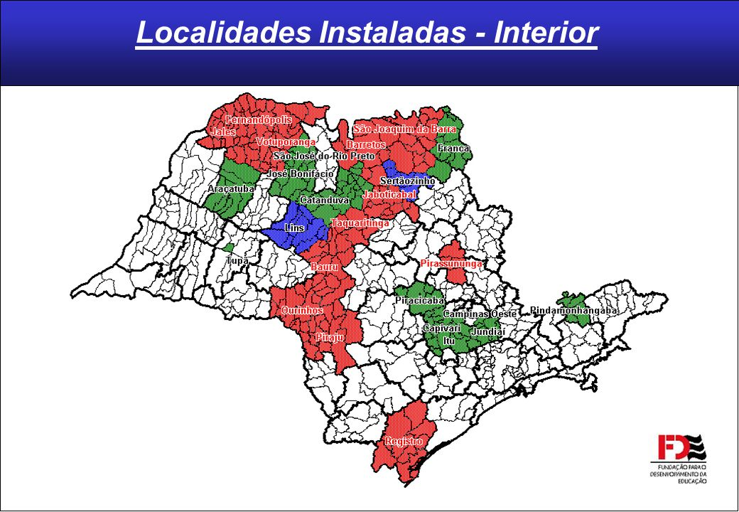 Localidades Instaladas - Interior