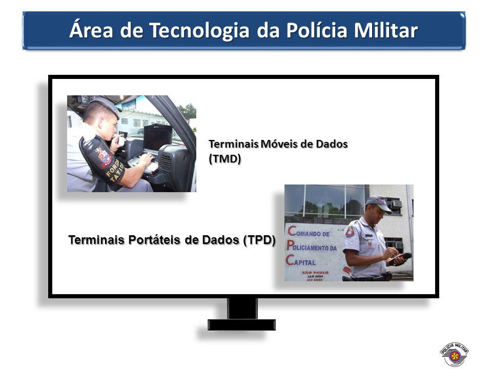 Área de Tecnologia da Polícia Militar Terminais Móveis de Dados (TMD) Terminais Portáteis de Dados (TPD)