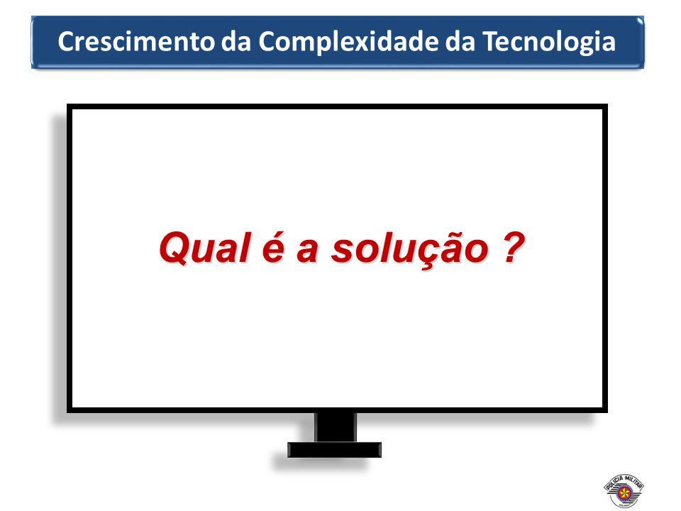 Qual é a solução ? Crescimento da Complexidade da Tecnologia