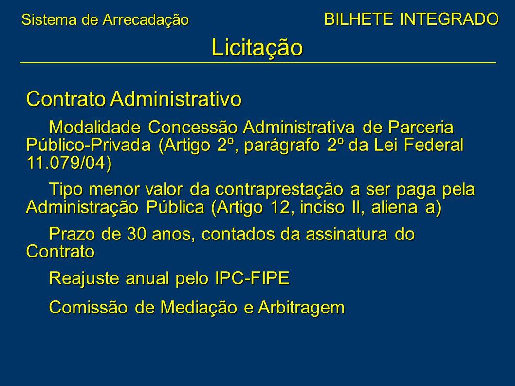 Contrato Administrativo Modalidade Concessão Administrativa de Parceria Público-Privada (Artigo 2º, parágrafo 2º da Lei Federal 11.079/04) Tipo menor