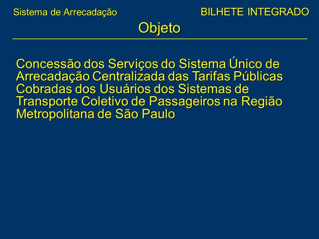 Objeto Concessão dos Serviços do Sistema Único de Arrecadação Centralizada das Tarifas Públicas Cobradas dos Usuários dos Sistemas de Transporte Colet