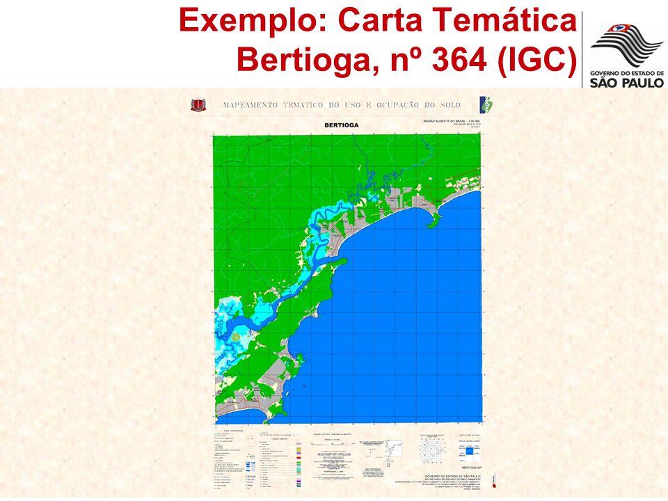 Exemplo: Carta Temática Bertioga, nº 364 (IGC)