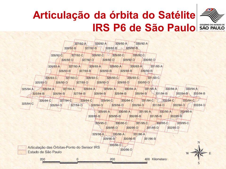 Articulação da órbita do Satélite IRS P6 de São Paulo
