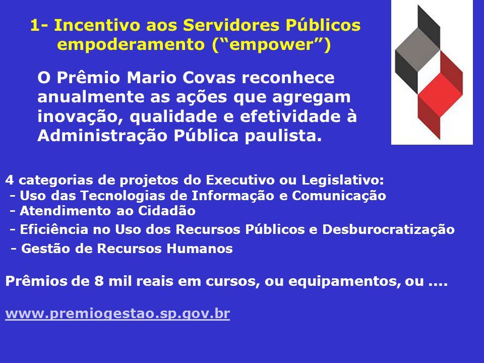 O Prêmio Mario Covas reconhece anualmente as ações que agregam inovação, qualidade e efetividade à Administração Pública paulista.