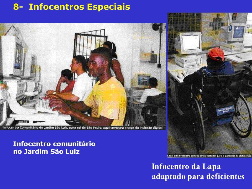 Infocentro comunitário no Jardim São Luiz Infocentro da Lapa adaptado para deficientes 8- Infocentros Especiais