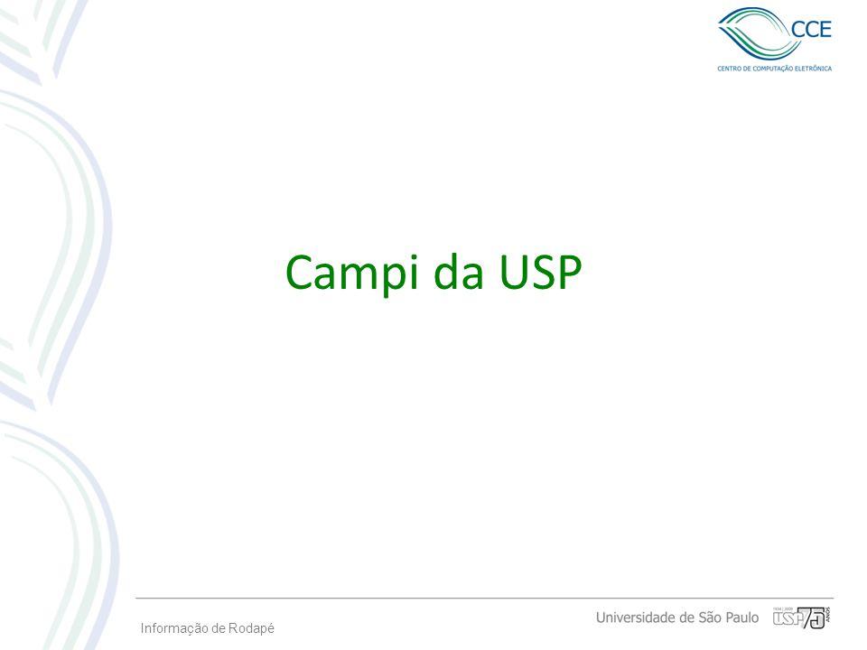Informação de Rodapé Campi da USP