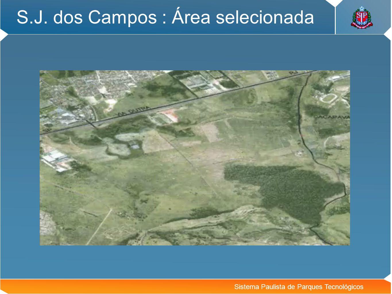 Sistema Paulista de Parques Tecnológicos S.J. dos Campos : Área selecionada