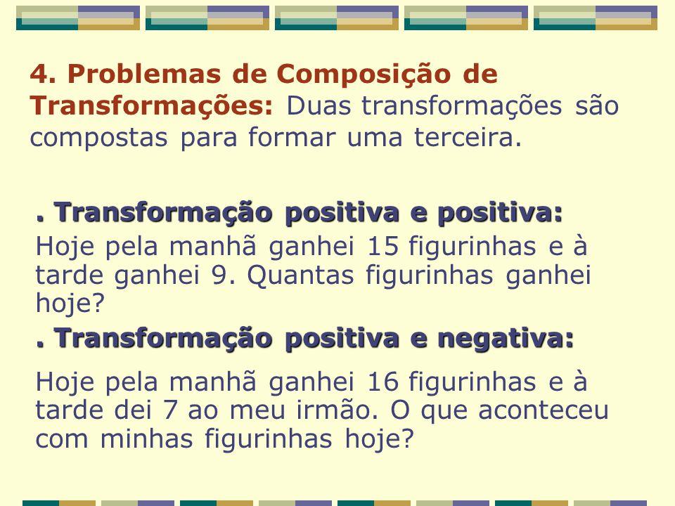 4. Problemas de Composição de Transformações: Duas transformações são compostas para formar uma terceira.. Transformação positiva e positiva: Hoje pel