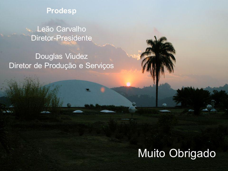 Muito Obrigado Prodesp Leão Carvalho Diretor-Presidente Douglas Viudez Diretor de Produção e Serviços