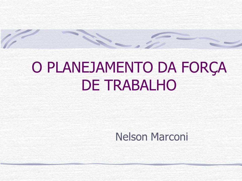 O PLANEJAMENTO DA FORÇA DE TRABALHO Nelson Marconi