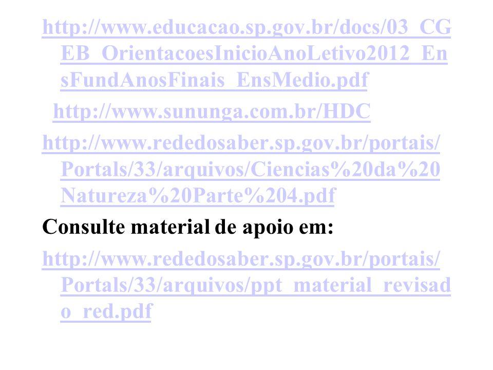 http://www.educacao.sp.gov.br/docs/03_CG EB_OrientacoesInicioAnoLetivo2012_En sFundAnosFinais_EnsMedio.pdf http://www.sununga.com.br/HDC http://www.re