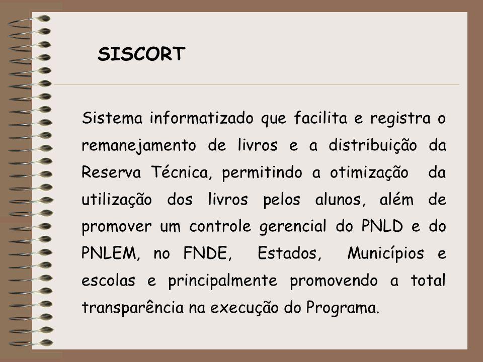 Sistema informatizado que facilita e registra o remanejamento de livros e a distribuição da Reserva Técnica, permitindo a otimização da utilização dos