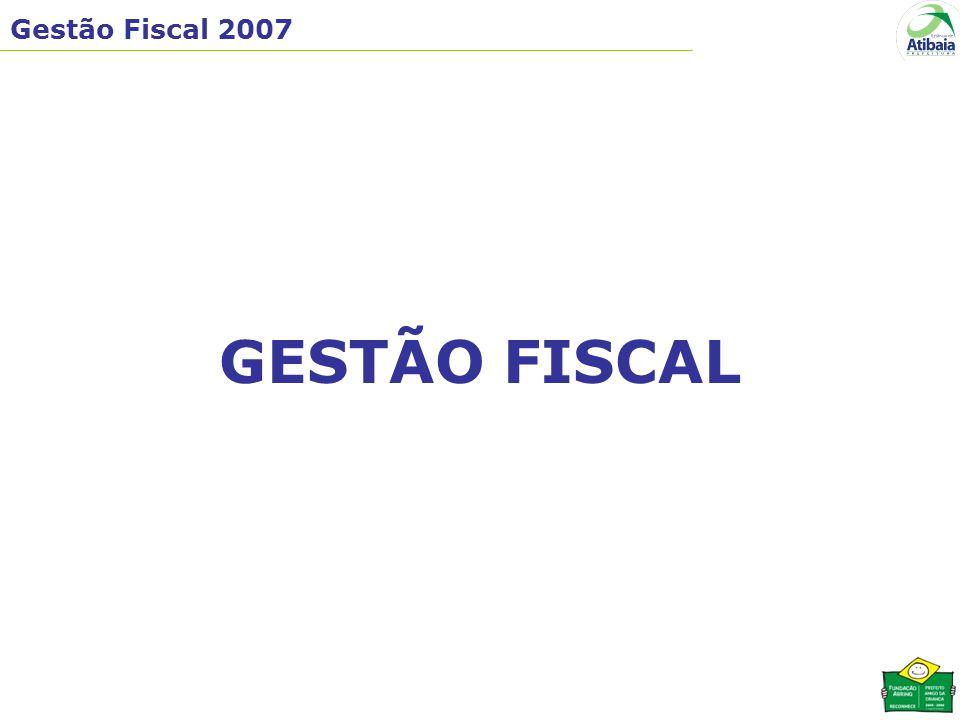 Gestão Fiscal 2007 GESTÃO FISCAL