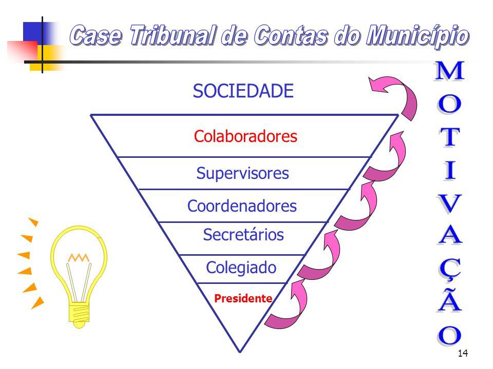 13 Liderança Servidora CLIENTE Presidente Diretor Gerente Supervisores Colaboradores
