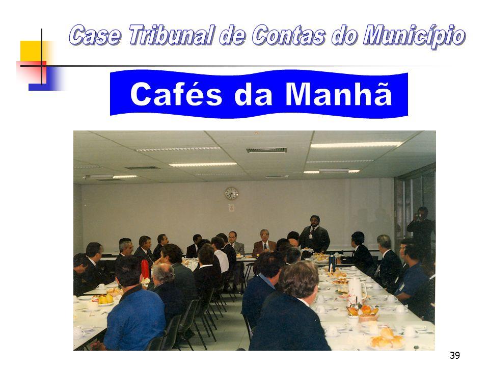 38 Cafés da Manhã Objetivos: Quebrar barreiras hierárquicas, Facilitar a comunicação, Promover a integração do pessoal; Discutir e avaliar as metas e
