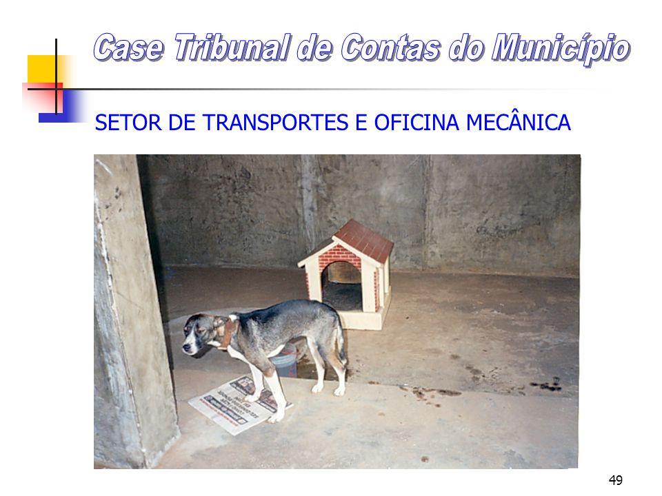 48 SETOR DE TRANSPORTES E OFICINA MECÂNICA Case Tribunal de Contas do Município