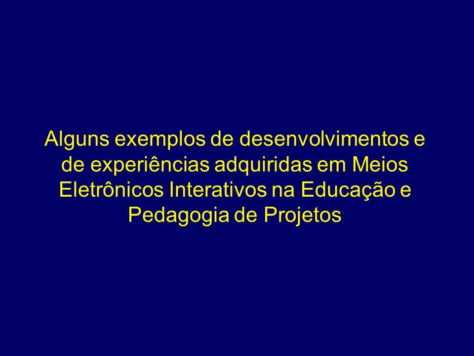 Alguns exemplos de desenvolvimentos e de experiências adquiridas em Meios Eletrônicos Interativos na Educação e Pedagogia de Projetos