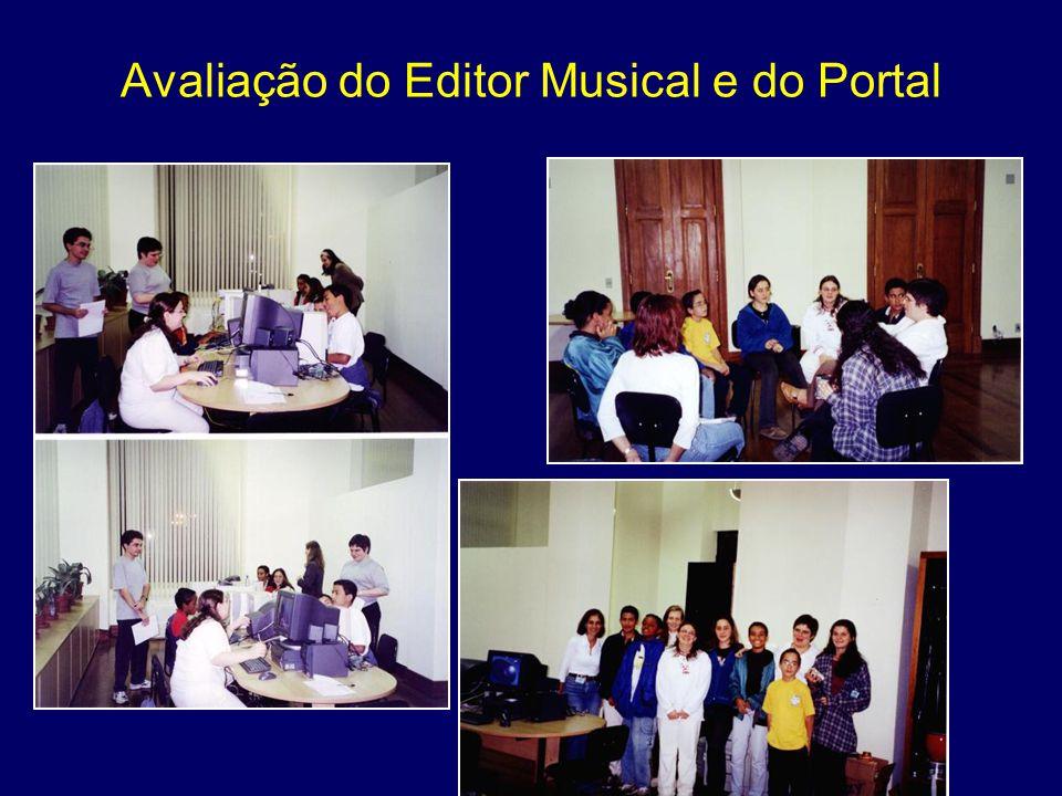 Avaliação do Editor Musical e do Portal