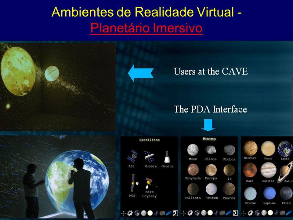 Ambientes de Realidade Virtual - Planetário Imersivo Planetário Imersivo