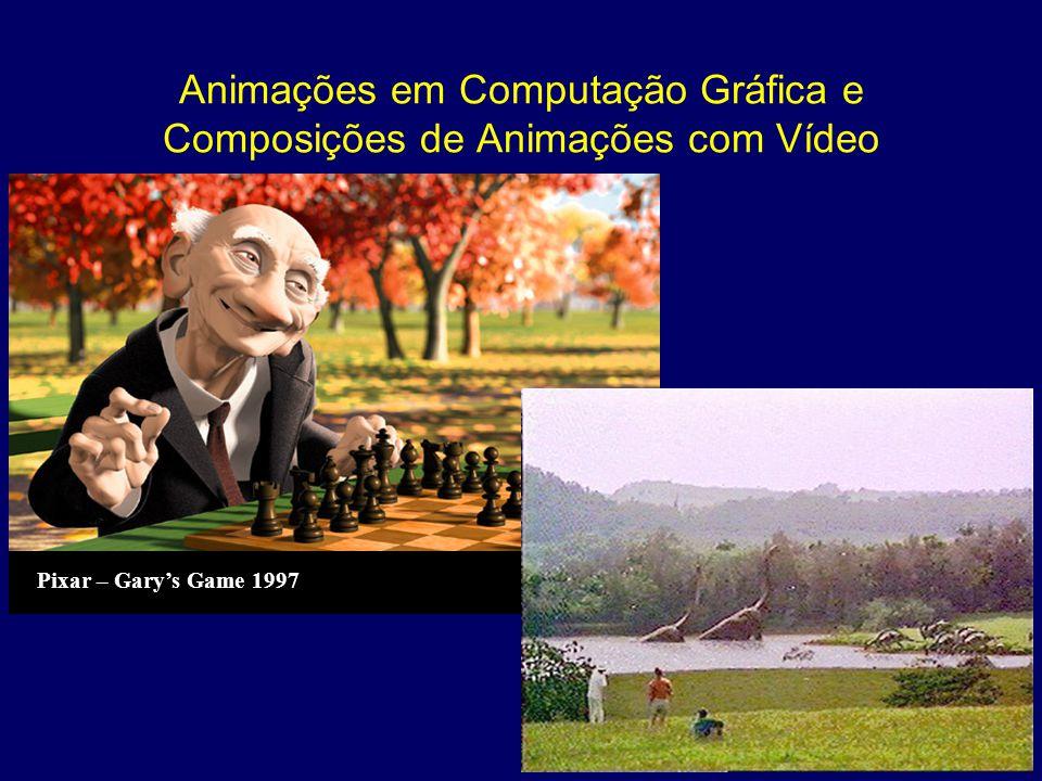 Animações em Computação Gráfica e Composições de Animações com Vídeo Pixar – Garys Game 1997