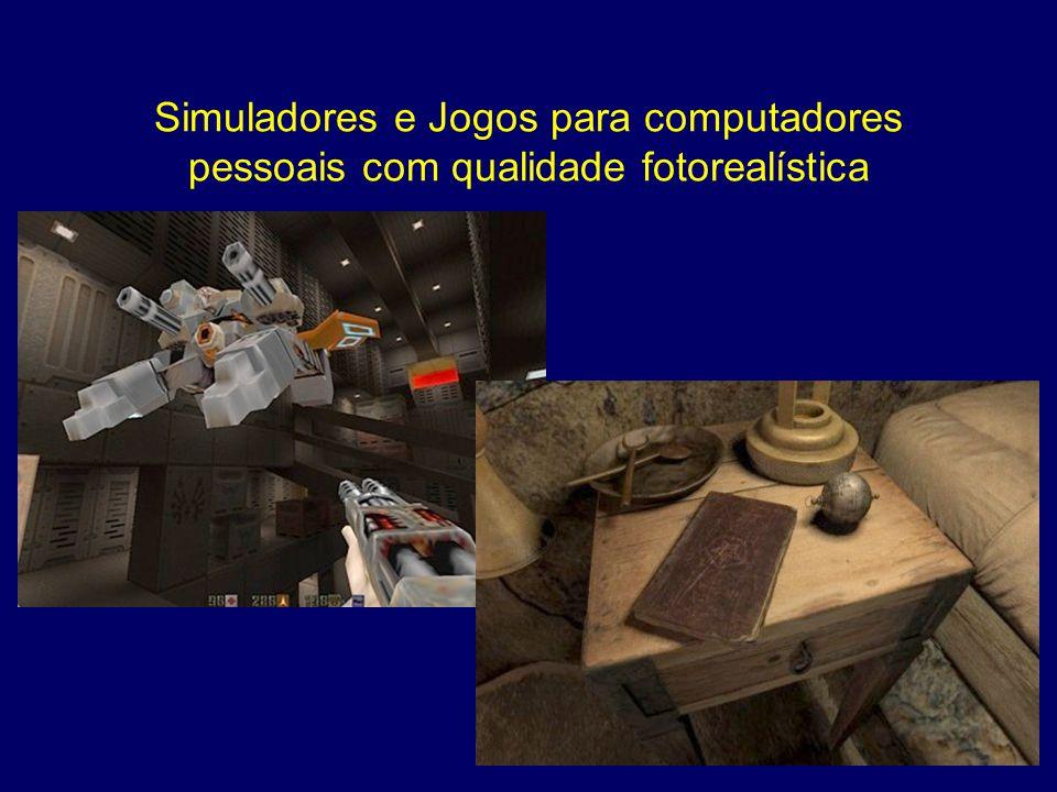 Simuladores e Jogos para computadores pessoais com qualidade fotorealística