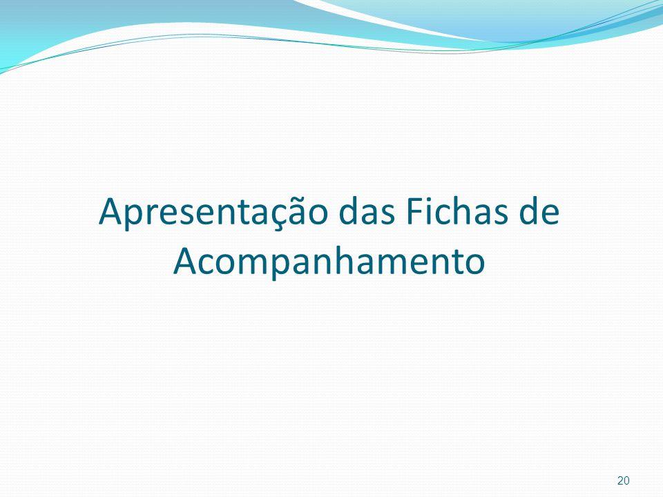 Apresentação das Fichas de Acompanhamento 20