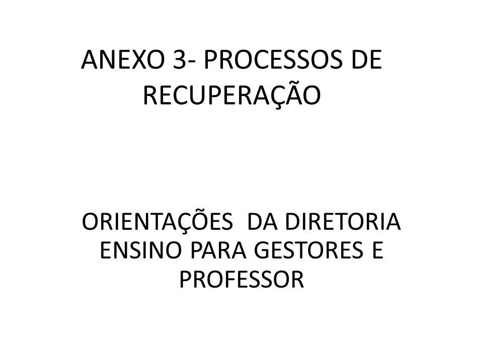 ANEXO 3- PROCESSOS DE RECUPERAÇÃO ORIENTAÇÕES DA DIRETORIA ENSINO PARA GESTORES E PROFESSOR