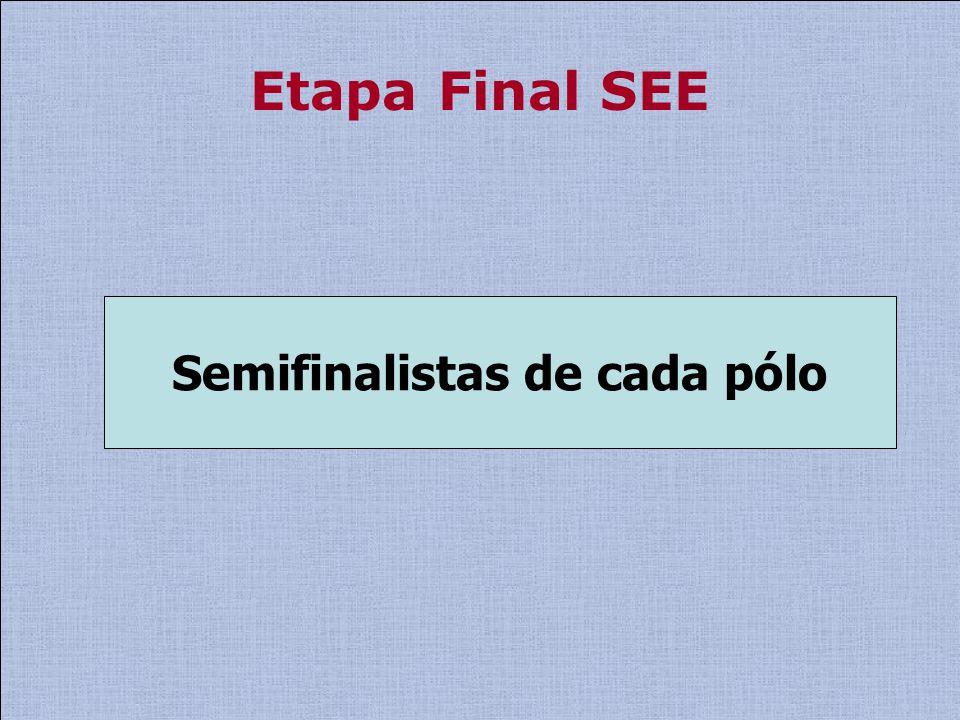 Etapa Final SEE Semifinalistas de cada pólo