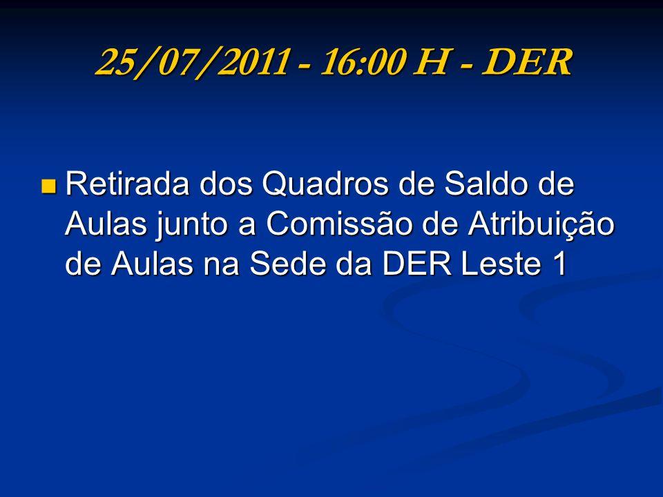 25/07/2011 – UE - 18:00 H Titulares de cargo da UE para carga suplementar de trabalho.