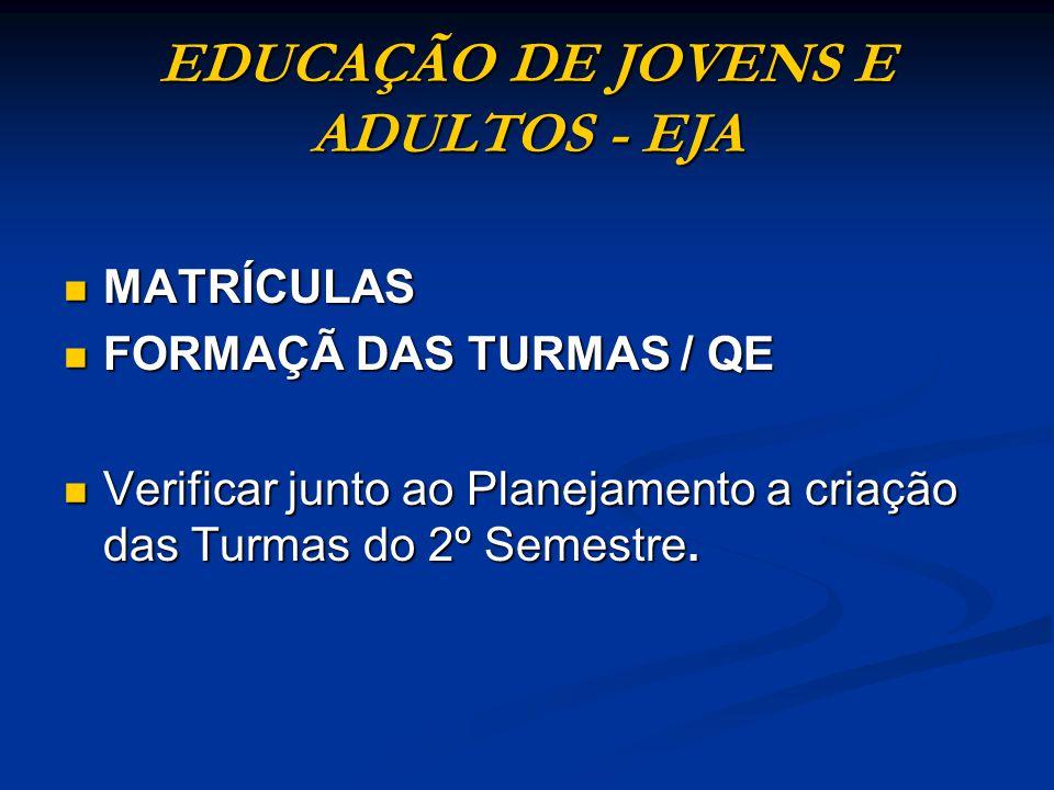 2 – ATRIBUIÇÃO DE AULAS EJA 2º SEMESTRE 2011 2º SEMESTRE 2011 Resolução SE Nº 77/2010 Resolução SE Nº 77/2010