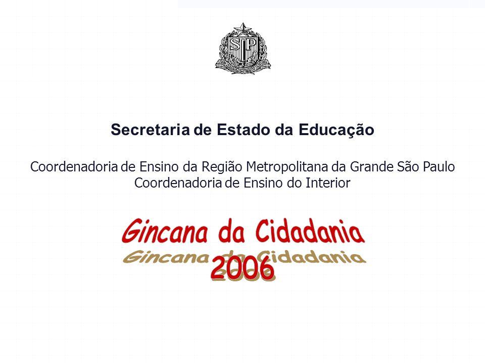 Secretaria de Estado da Educação Coordenadoria de Ensino da Região Metropolitana da Grande São Paulo Coordenadoria de Ensino do Interior