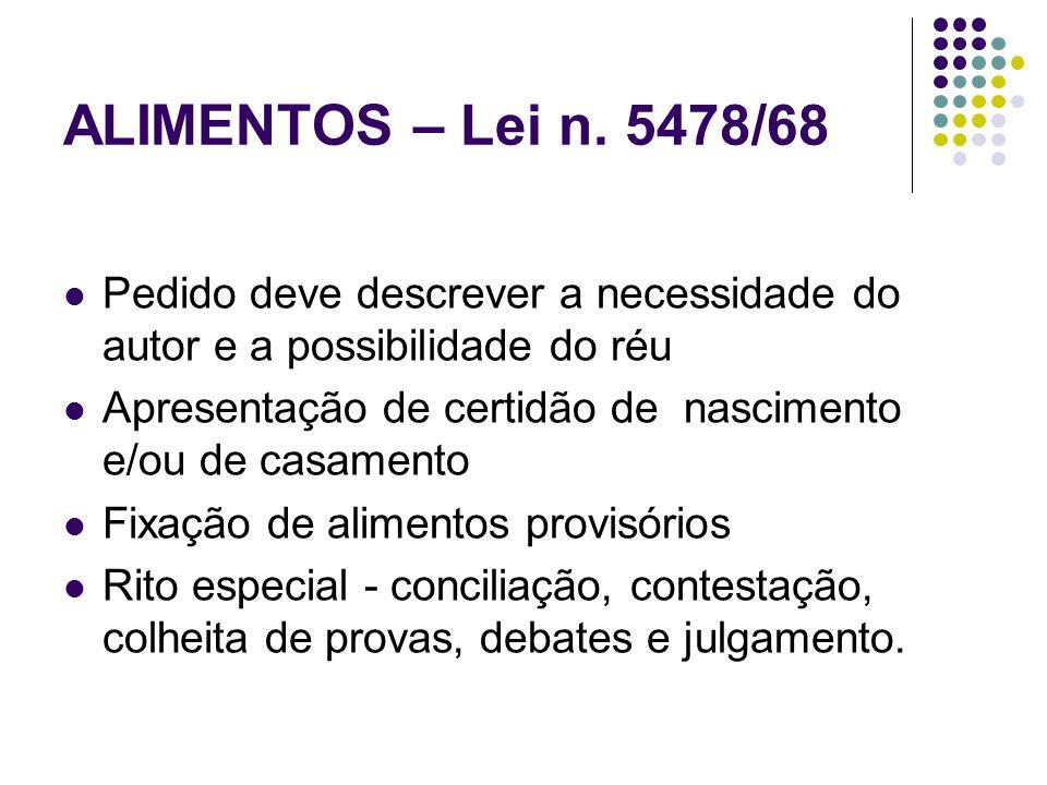 ALIMENTOS – Lei n.