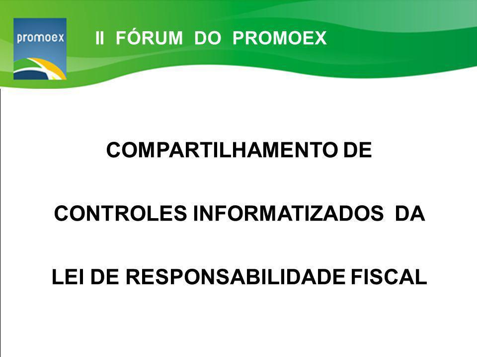 Promoex 1.5. Resultado Primário estabelecido na LDO - Art. 4 §1º e Art. 9º LRF COMPARTILHAMENTO DE CONTROLES INFORMATIZADOS DA LEI DE RESPONSABILIDADE