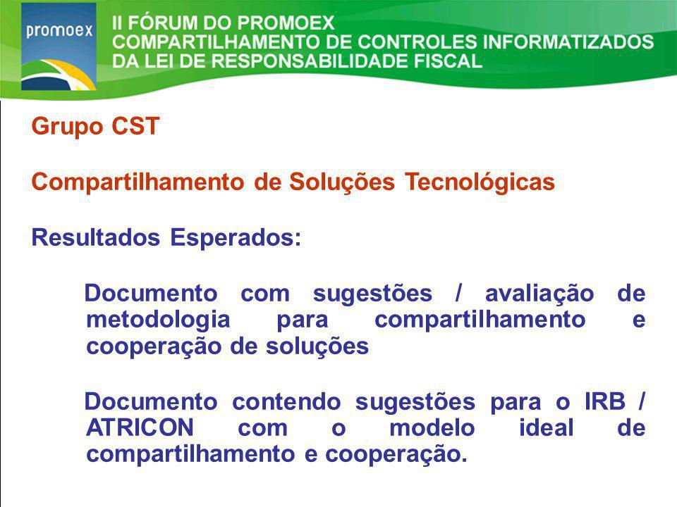 Promoex 1.5. Resultado Primário estabelecido na LDO - Art. 4 §1º e Art. 9º LRF II FÓRUM DO PROMOEX Grupo CST Compartilhamento de Soluções Tecnológicas