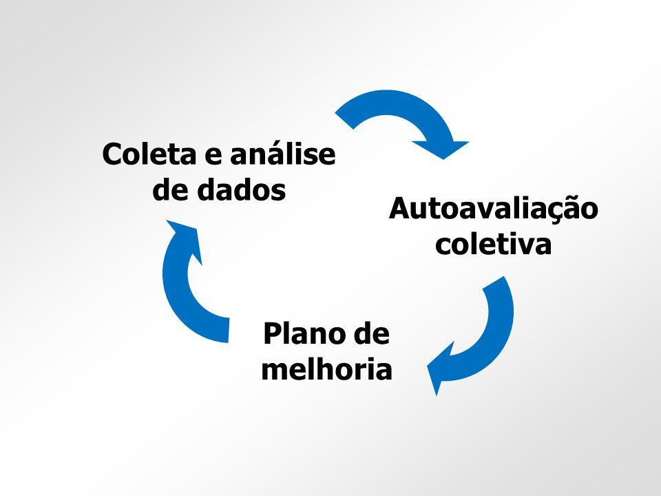 Coleta e análise de dados Autoavaliação coletiva Plano de melhoria