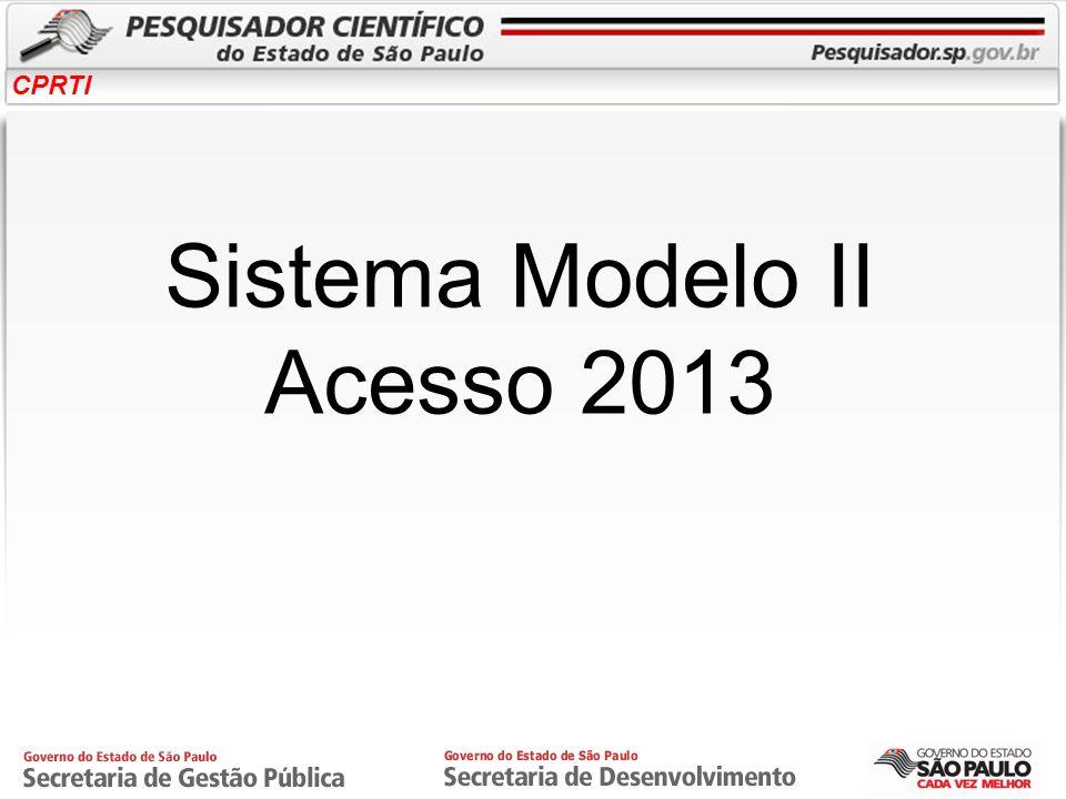 CPRTI Sistema Modelo II Acesso 2013