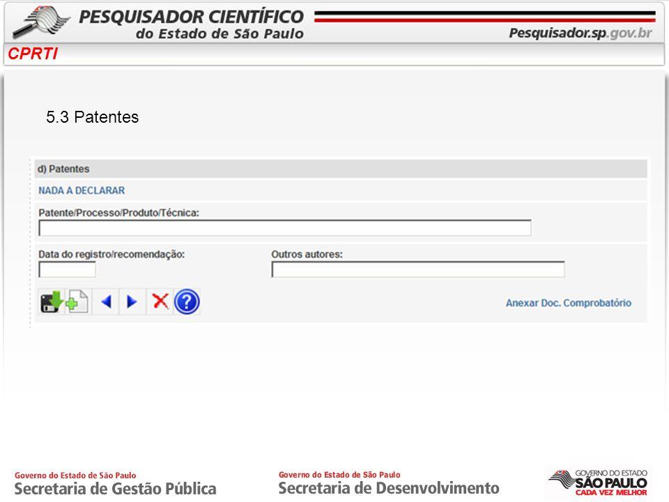 CPRTI 5.3 Patentes