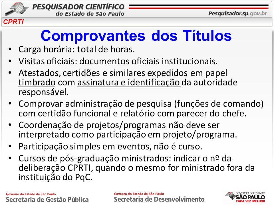 CPRTI Conheça o Portal www.pesquisador.sp.gov.br