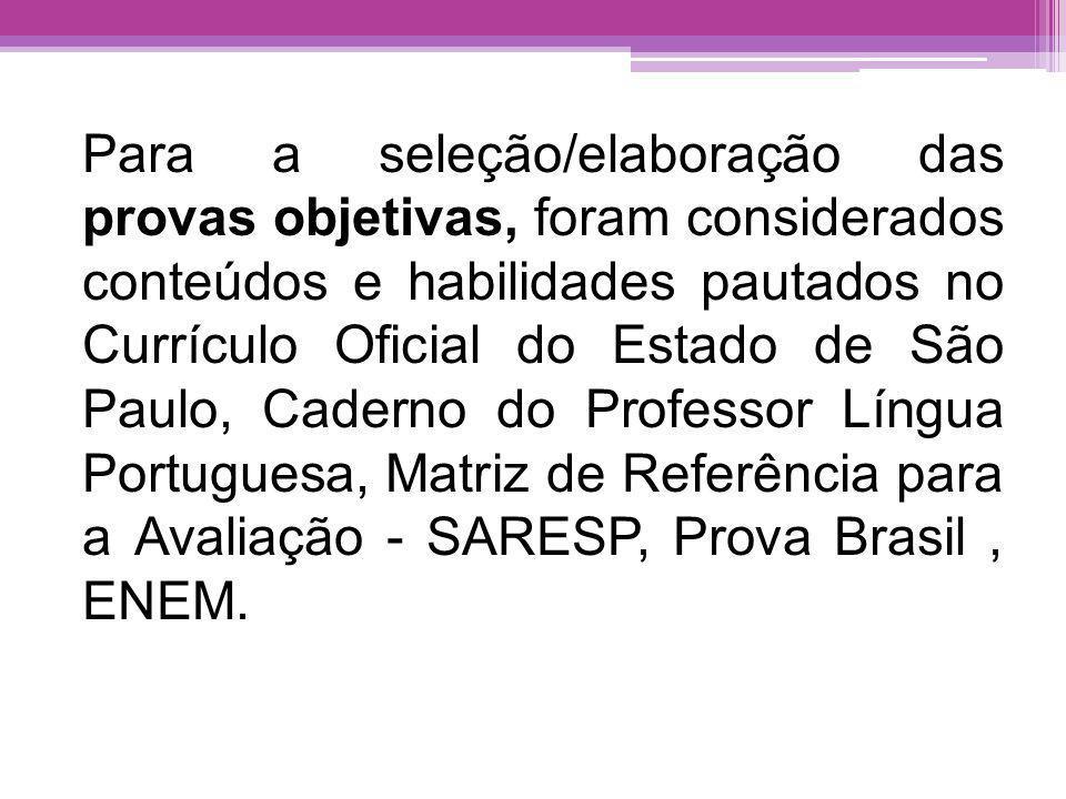 A Avaliação da Aprendizagem em Processo de Língua Portuguesa, em sua 4ª edição, apresenta: quinze questões objetivas compostas por quatro alternativas prova de produção textual para os quatro anos do Ensino Fundamental II e para as três séries do Ensino Médio.
