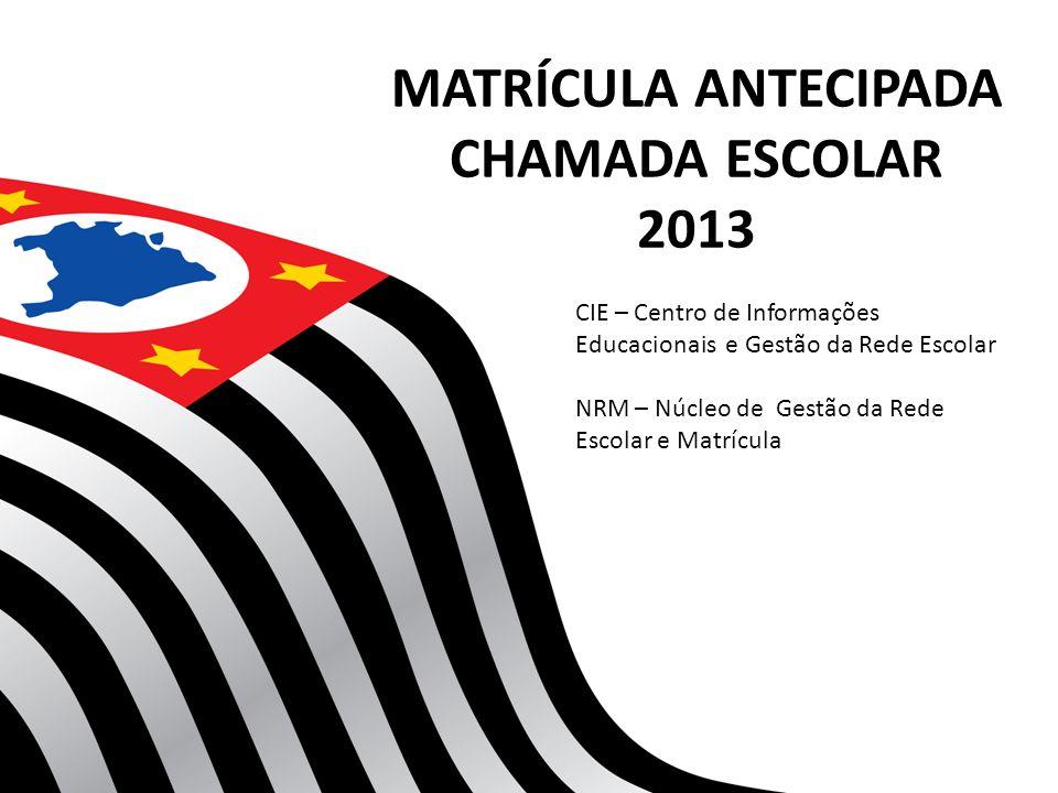 CRONOGRAMA QUADRO RESUMO 10/9 a 28/9 – Digitação do quadro resumo e coleta de classes de todos os níveis de ensino, previstas para o ano letivo de 2013, das escolas estaduais e municipais.