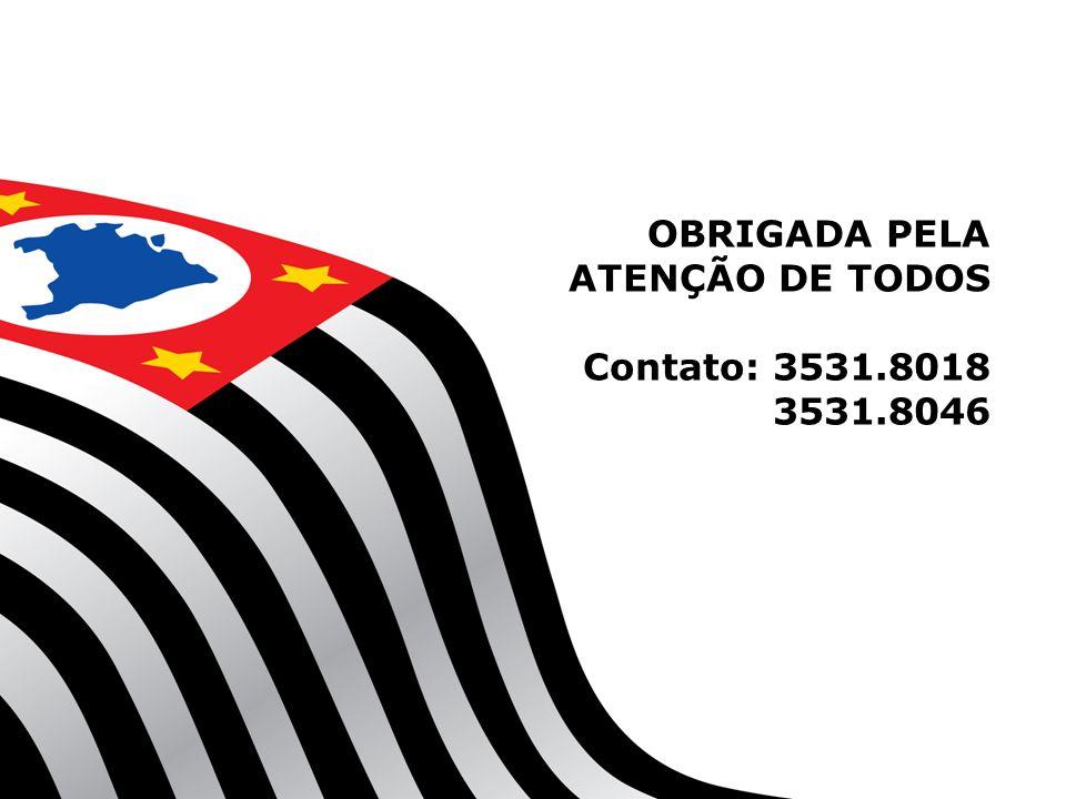 OBRIGADA PELA ATENÇÃO DE TODOS Contato: 3531.8018 3531.8046