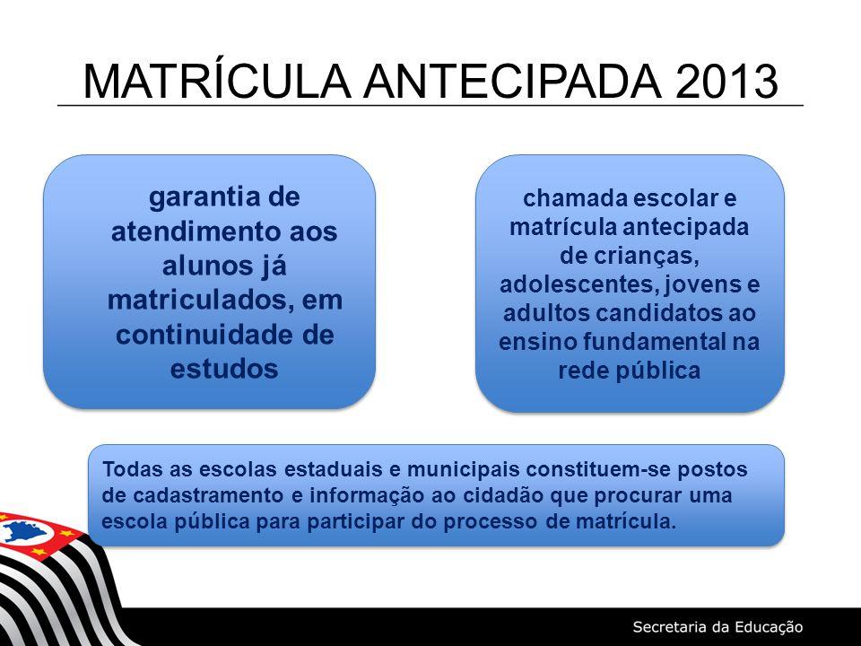 CRONOGRAMA FASE IV 1º/10 a 1º/11 – Cadastramento, no Sistema de Cadastro de Alunos do Estado de São Paulo, dos candidatos à vaga no ensino fundamental, inclusive na modalidade de Educação de Jovens e Adultos, que não se inscreveram no prazo previsto para o processo.