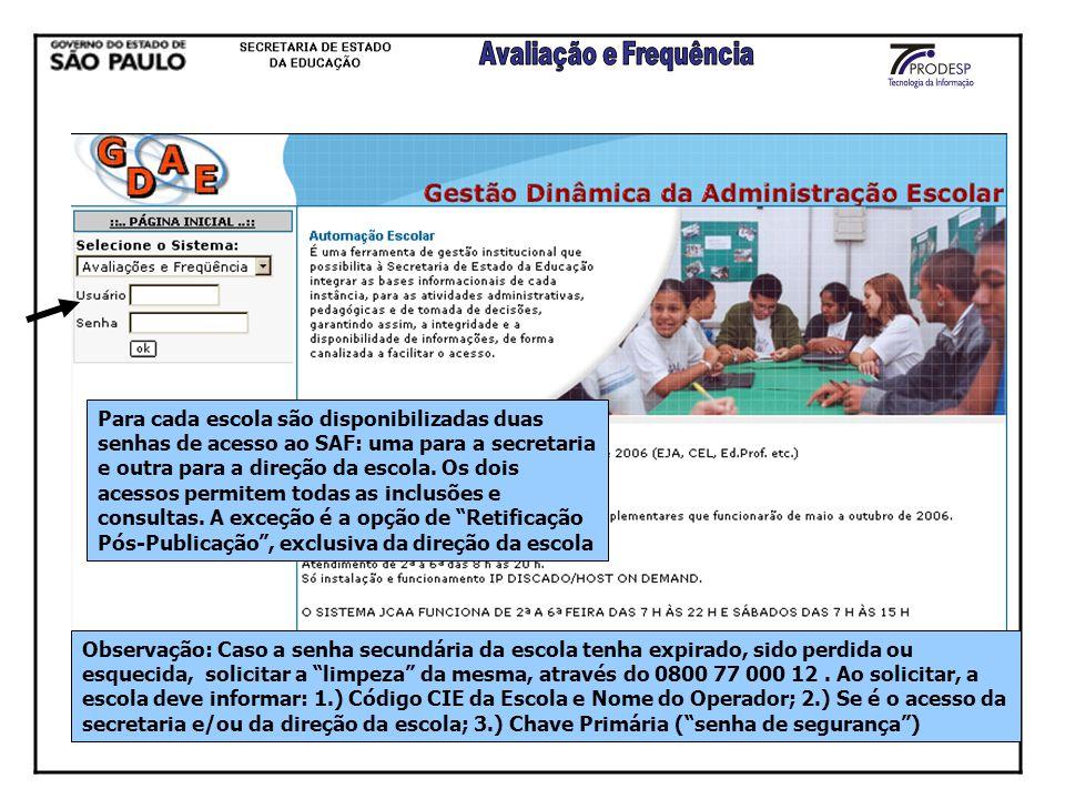 CALENDÁRIO PERÍODO LETIVO CARACTERIZAÇÃO DOS CURSOS QUADRO CURRICULAR LANÇAMENTO AVALIAÇÕES E FREQUÊNCIA PUBLICAÇÃO RETIFICAÇÃO PÓS-PUBLICAÇÃO CONSOLIDAÇÃO DO RENDIMENTO ESCOLAR BOLETIM RELATÓRIOS CONSULTAS GERENCIAIS