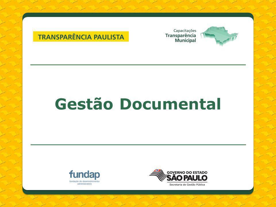 Documentos de Arquivo Registro das funções e atividades de uma instituição Produção natural e orgânica (invisível) Diferentes suportes e formatos Integra o patrimônio público