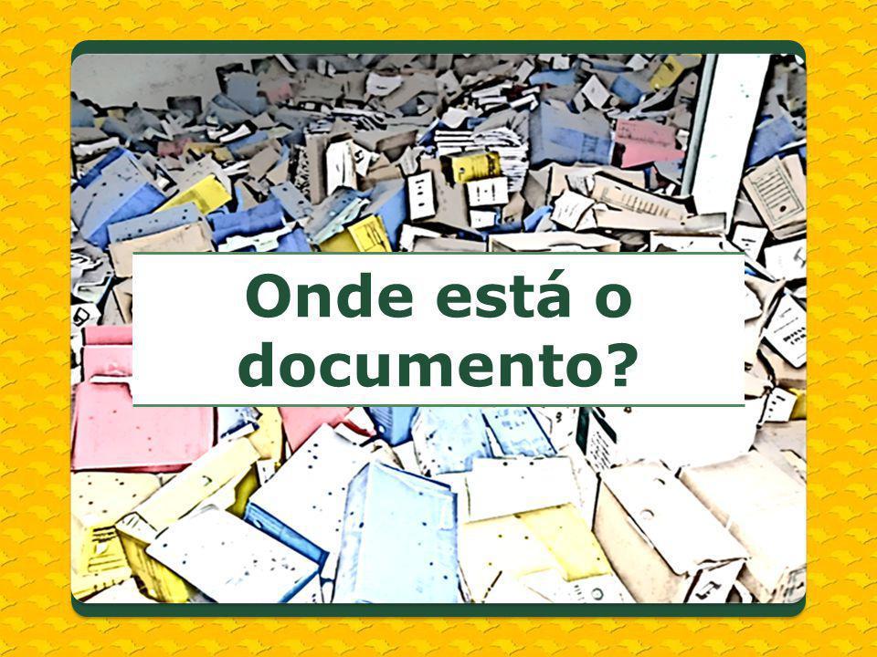 Onde está o documento?