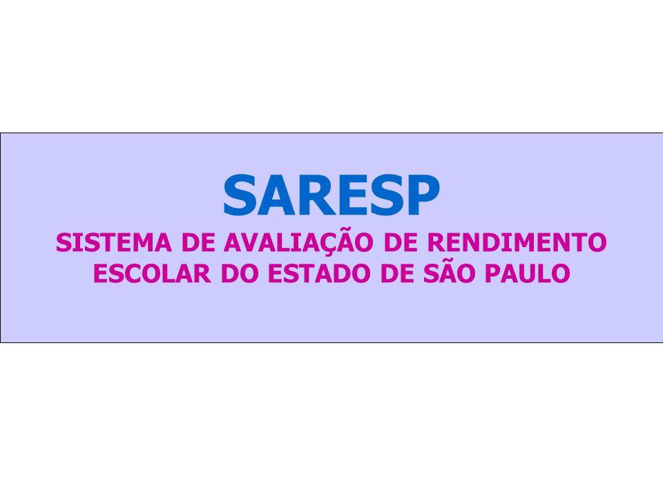 SARESP SISTEMA DE AVALIAÇÃO DE RENDIMENTO ESCOLAR DO ESTADO DE SÃO PAULO